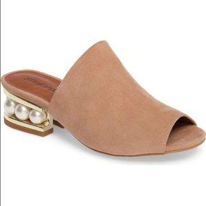 Jeffrey Campbell Arcita Slide Sandal - Pearl heel